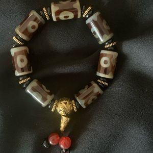 Jewelry - Tibetan prayer bracelet DZI agate beads